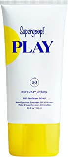 Supergoop! PLAY Everyday SPF 50 Lotion, 5.5 oz - Reef-Safe, Broad Spectrum Sunscreen for Sensitive Skin - Water & Sweat Resistant Body & Face Sunscreen - Clean ingredients - Great for Active Days
