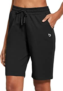 "BALEAF Women's 10"" Inseam Bermuda Shorts Fitness Yoga Active Lounge Sweatpants Shorts with Deep Pockets"