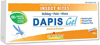 Boiron Dapis Gel, 40 g tube, Homeopathic Medicine relieves pain, itching & hives of insect bites