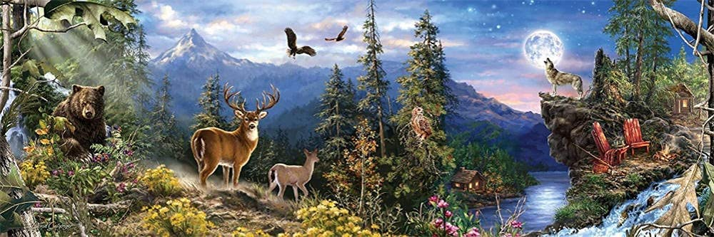 Diamond wholesale Painting Moon Animals Large Fu Life Kit OFFicial mail order