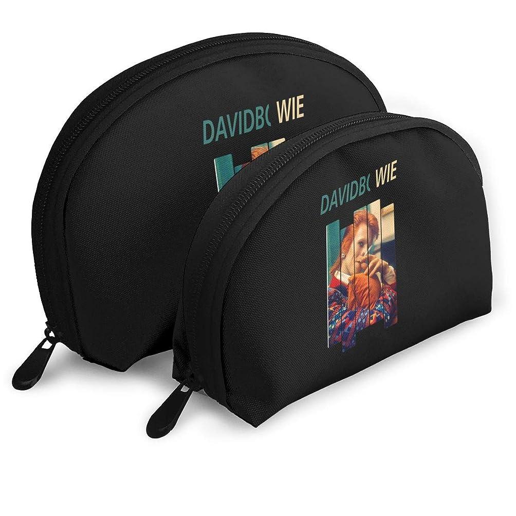 ゲート航空会社コミュニティデヴィッド ボウイ アルバム David Bowie 化粧ポーチ ツインセット 貝殻型 化粧袋 小物収納 軽量 旅行出張用 メイクポーチ ニューモード おしゃれ 親子ポーチ レディース