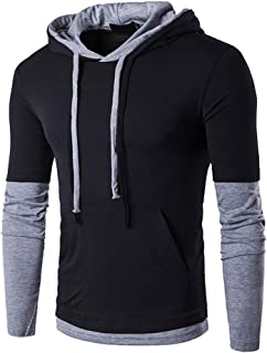 TOLOER Men's Hoodies Pullover Casual Solid Color Sports Outwear Sweatshirts