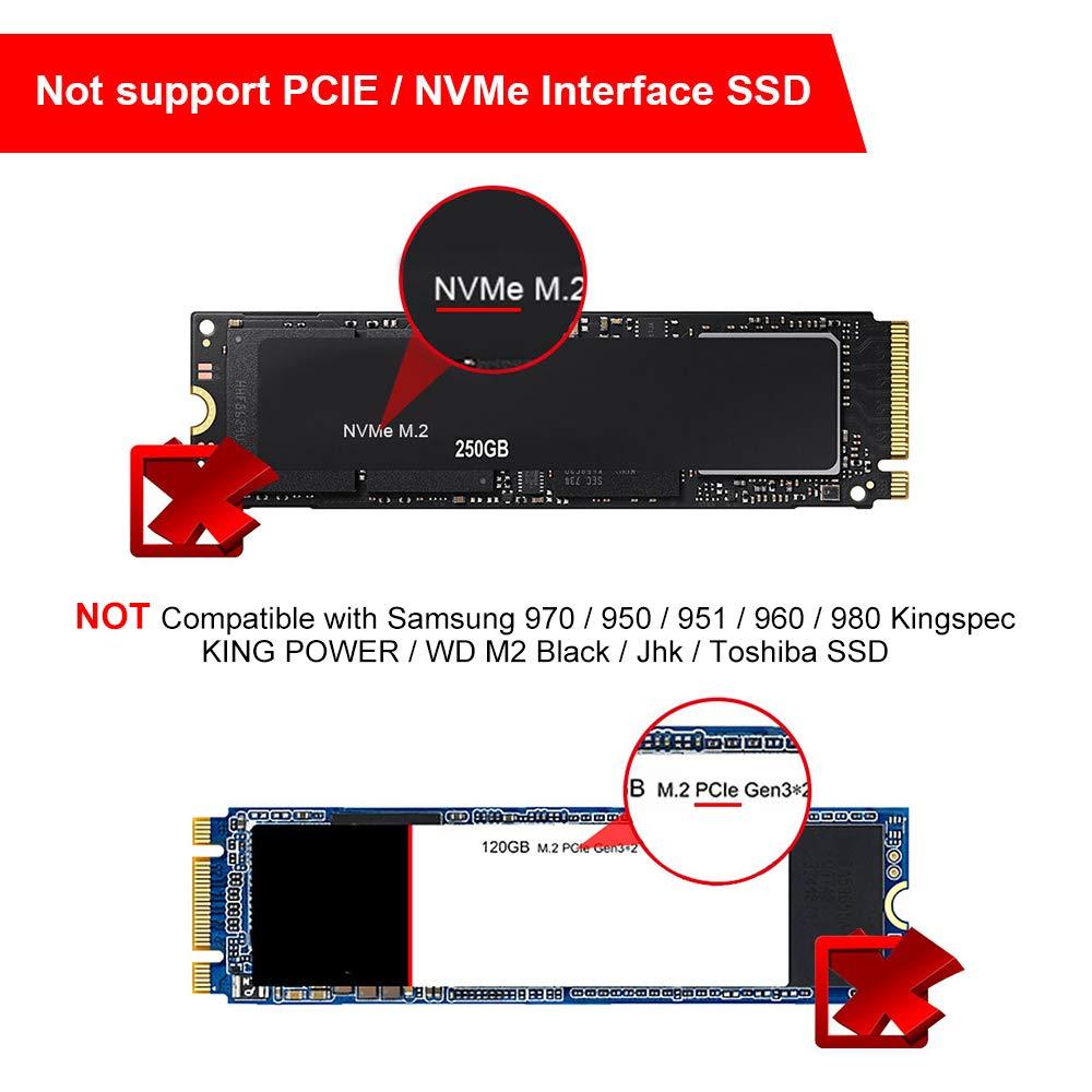 ELUTENG M2 to USB 3.0 NGFF M.2 Carcasa Adapter UASP SATA III Aluminio M.2 Caja Soporte Todos B y B + M Key (Clave) NGFF SSD Enclosure M2 SATA Adaptador con Cable