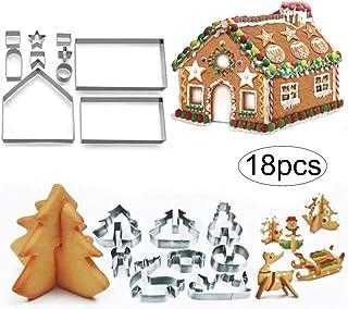 クッキー型 ケーキツール 抜き型 可愛いお菓子の家キット 3Dクリスマスクッキー手作り18点セット