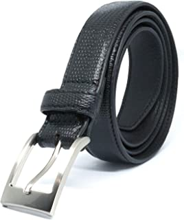 Savile Row Men's Black Textured Leather Belt