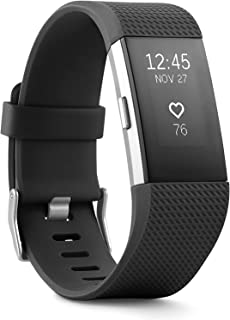 Charge 2 Superwatch Wireless Smart Activity and Fitness Tracker + Heart Rate and Sleep Monitor Smart Wristband, Black, Lar...
