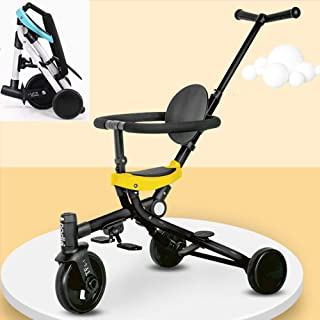 AP.DISHU Strollers Pushchairs, Stroller by Children Lightweight Compact Folding Children's Tricycle, Suitable for 1-6 Years Old Baby Bicycle,Beige