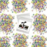 Downtown Pet Supply 100 Pack Orthodontic Elastics 1/4' Multiple Mixed NEON Colored Rubber Bands Great for Dog Grooming Top Knots, Bows, Braids, and Dreadlocks