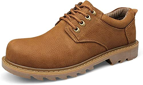 JIALUN-des Chaussures Chaussures de Loisirs en Plein air Bottes de Travail pour Hommes Bottes de Travail Classiques (Couleur   Light marron, Taille   43 EU)