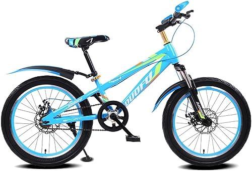 ahorra hasta un 80% LXYFMS Bicicleta para Niños 16 18 20 Pulgadas Bicicleta de de de Montaña 5-8 7-10 10-14 años Niño Cochecito de bebé Bicicleta de Acero de Alto Carbono, azul negro rojo negro verde negro azul oscur  al precio mas bajo