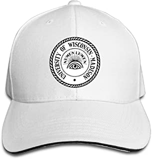 Sports University Of Wisconsin--Madison Numen Lumen Snapback Hats Black Sandwich Peaked Cap