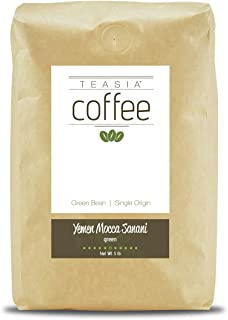 Teasia Coffee, Yemen Mocca Sanani, Single Origin, Green Unroasted Whole Coffee Beans, 5-Pound Bag