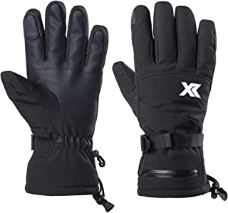XR Waterproof Warm Ski Gloves 3M Thinsulate Windproof Breathable Snowboarding Gloves for Outdoor Cold Weather Fits Men Women