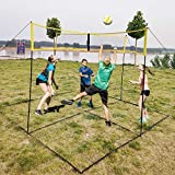Portable Croce Beach Volleyball Net - Interni Esterni Allenamento Attrezzatura Badminton Tennis Pallavolo Net - per Giardino sul Retro Spiaggia Piscina (150 X 50 Cm) A