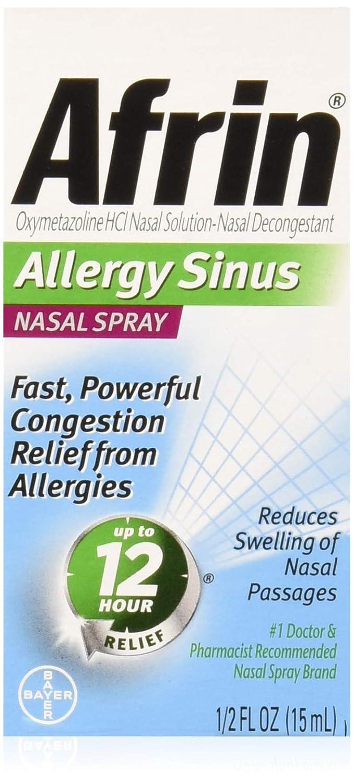 Afrin Nasal Spray 12 Sacramento Mall Hour Relief fl Sinus Chicago Mall 0.5 oz Allergy Pack