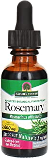 Nature's Answer Rosemary Leaf Extract Supplement with Organic Alcohol, 1-Fluid Ounce   Promotes Hair Growth   Skin Care He...