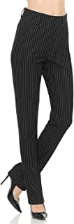 Women's Straight Fit Trouser Pull-On Pants | 4 Styles...
