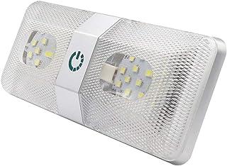 VislonAdaskalae 48LEDs luz de teto de cúpula dupla para reboques