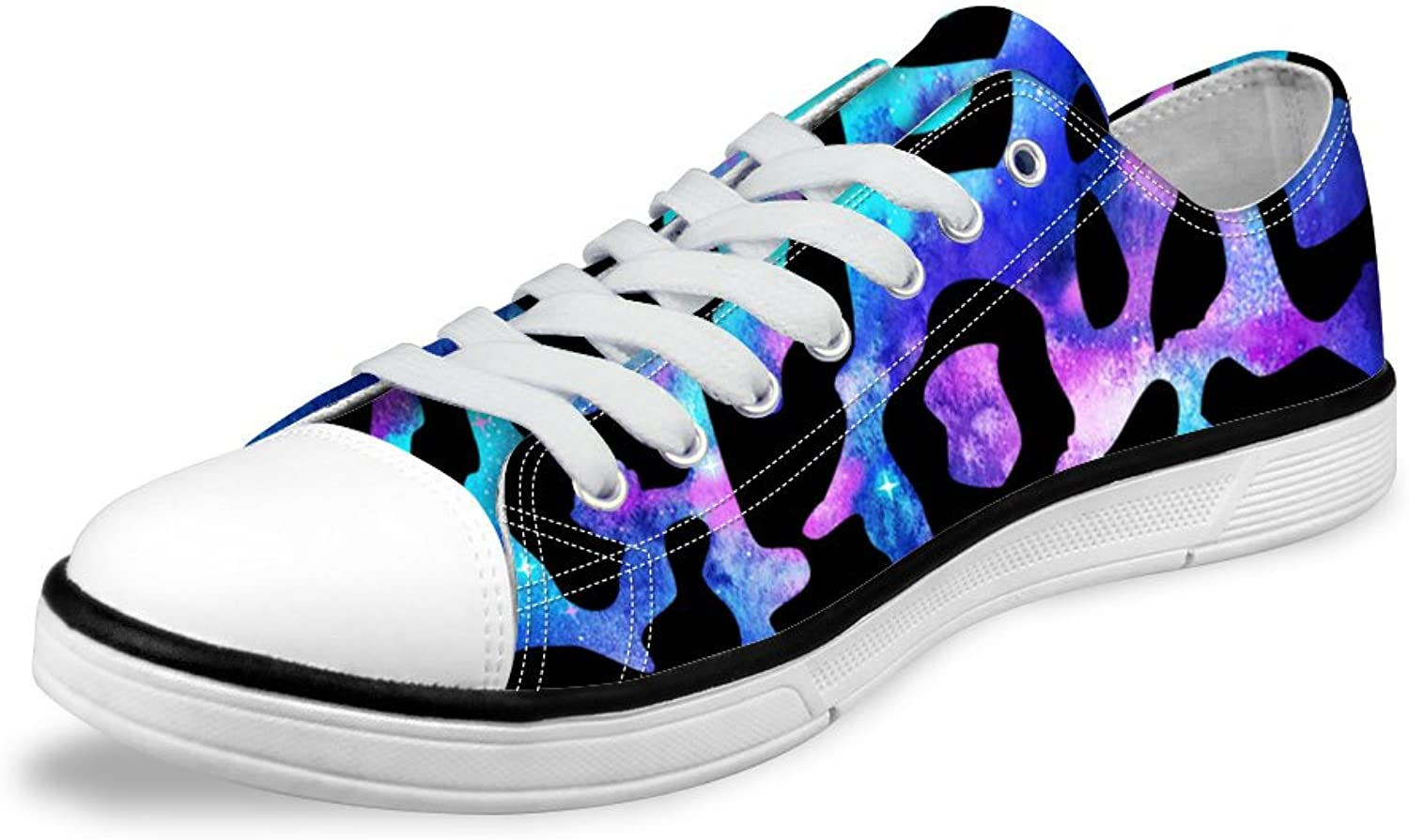 Micandle Fashion Print Canvas Low Top shoes Summer Sneakers for Women