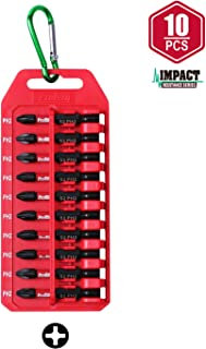 Protorq Impact Power Bit Set W/clip, 10-Piece, 2 Phillips, 2 Inch Length, Industrial Strength, 1/4