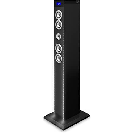 Bigben Sound Tower Tw9eq Dj Schwarz 60 Watt Rms Equalizer Leds Bluetooth Aux In Sd Ukw Audio Hifi