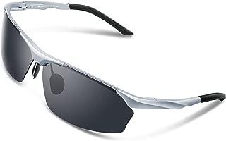 TOREGE Men's Sports Style Polarized Sunglasses Al-Mg Metal Frame Glasses M292