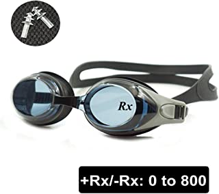 2206a61730 EnzoDate Optical Swim Goggles Rx Hyperopia +1.0 to +8.0 Farsighted Myopia  -1.0 to