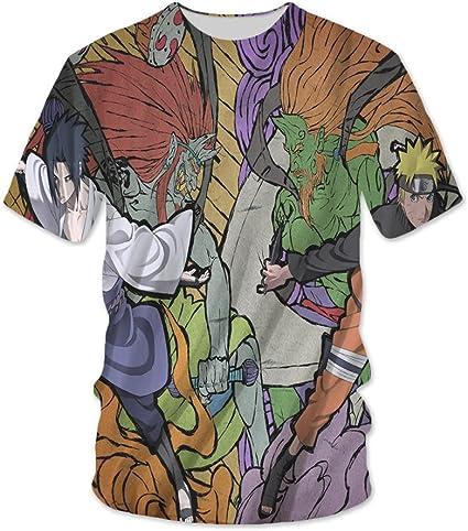 hengshukeji Naruto Sasuke Naruto Camiseta de Verano de Manga ...