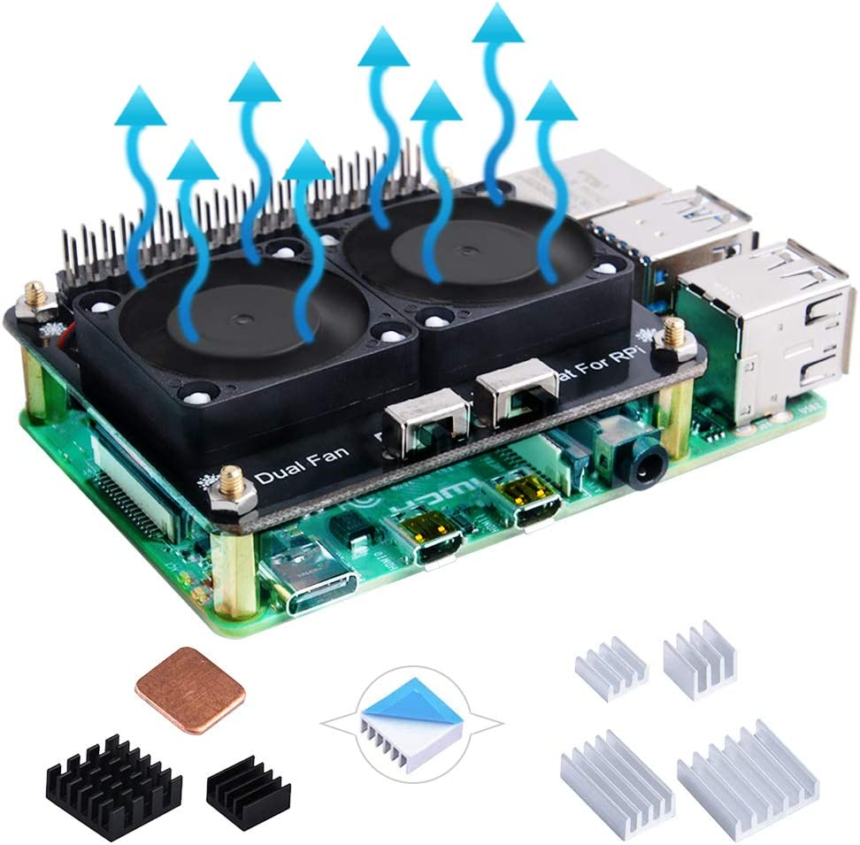 Max 58% OFF GeeekPi Raspberry Pi 4B shopping GPIO Expansion F with Dual Cooling Board