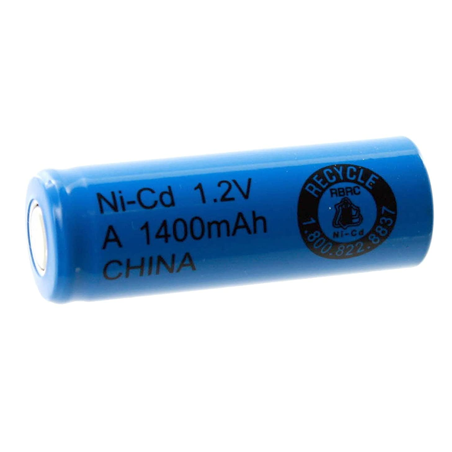 Exell 1.2V 1400mAh NiCD A Rechargeable Battery Flat Top Cell Fast USA Ship