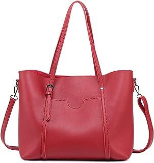 Heshe Leather Shoulder Handbags Work Tote Handbags Zippered Designer Ladies Purses Satchel Crossbody Bag