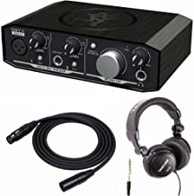 Mackie Onyx Artist 1-2 2-in x 2-out USB Audio Interface with XLR Cable and Studio Headphones