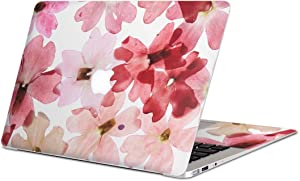 igsticker Skin Decals for MacBook Pro 15 inch 2019/18/17/16(Model A1990/A1707) Ultra Thin Premium Protective Body Stickers Skins Universal Cover Flower Flour Watercolor