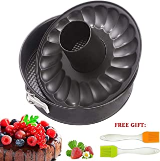 7 inch Springform Cake Pan Cheesecake Bakeware Non Stick Baking for Pressure Cooker 5 6 8 Qt with Leakproof 2 Removable Bottom and Silicone Brush