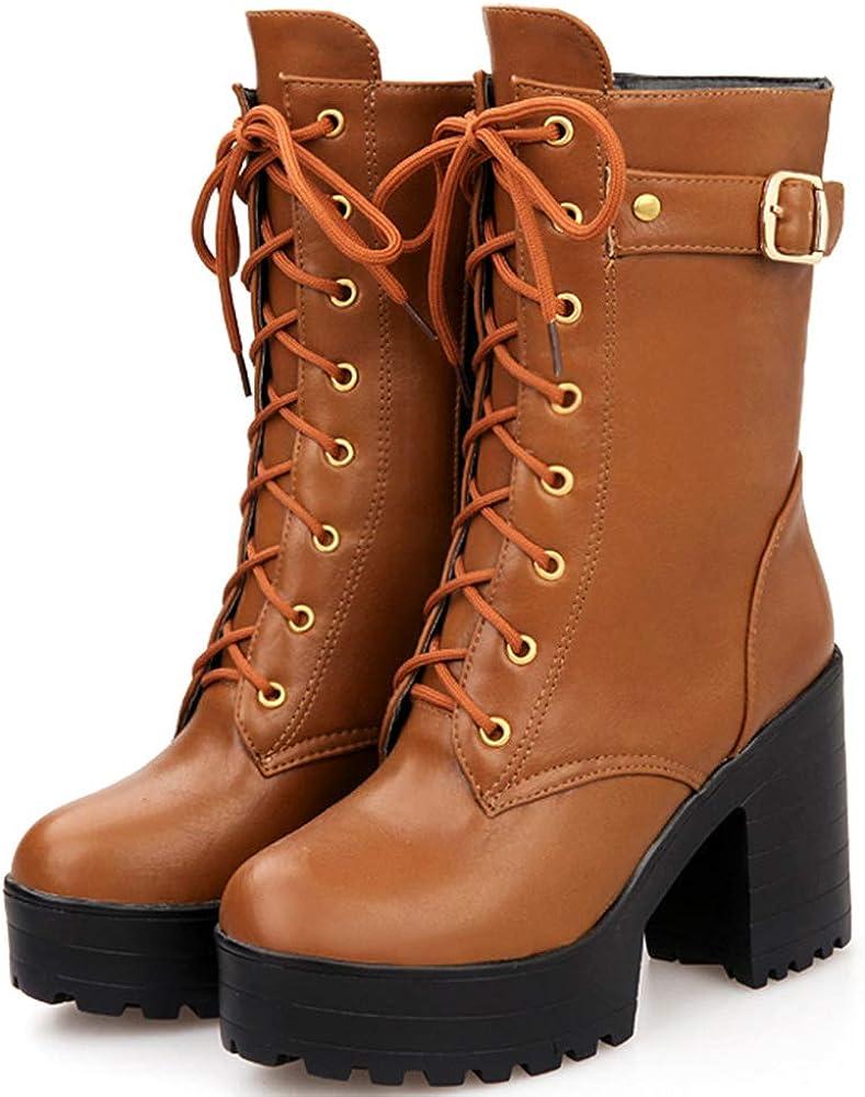 SaraIris Womens Fashion Chunky 40% OFF Cheap Sale Heel Combat Soldering Platform Military Ank