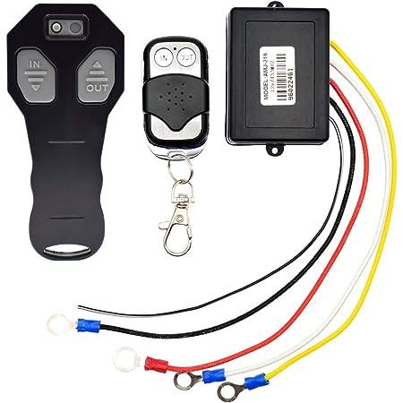prasku 3X 12V Wireless Winch Remote Control Kit