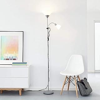 Projecteur plafonnier LED classique avec bras de lecture, 1x 10W E27 LED / 1x 3W E14 LED incl., 810 Lumen, 2700K blanc cha...