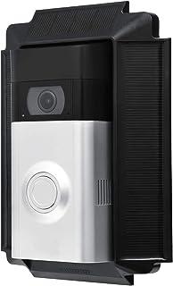 Wasserstein 0.5 Watt Solar Charger Mount Compatible with Ring Video Doorbell 2, Weatherproof (Black)