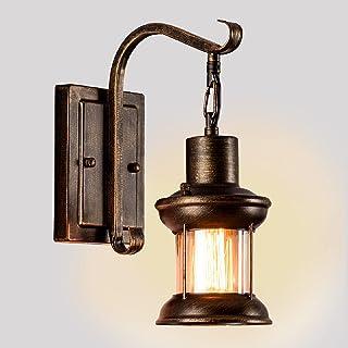 Applique Murale Industrielle Vintage E27, Luminaire Rétro Metal Applique Intérieure Décoration en Verre Nordique Rustique ...