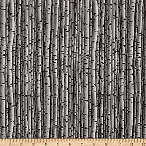 Blank Quilting Snowscapes Birch Texture/Knock On Wood, Grey