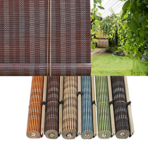 L-DREAM Tapparella in Bamboo Esterno, Tenda di bambù Oscurante, Tessute A Mano, Parasole, Isolamento Termico, per Casa/Porta/Finestra, Premium alla Moda Avvolgibile Bamboo