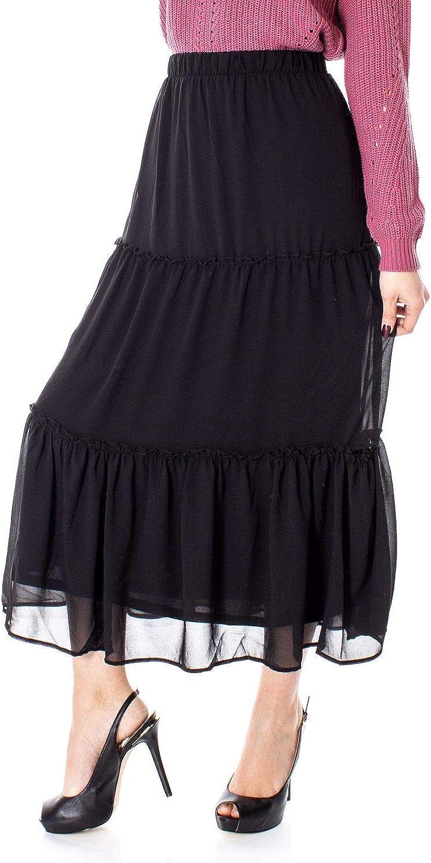 Only Women's 15174620BLACK Black Polyester Skirt