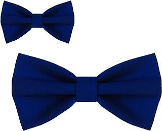 Papillon padre e figlio blu classico pantone 2020, linea inverno 2020, set da 2 pezzi