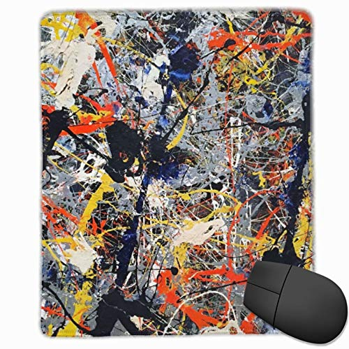 Faizash Mouse Pad-Jackson Pollock High Res Computer Mouse Pad with Non-Slip Rubber Base and Alternative Anti-Wear Edges,Premium-Textured Mouse Pad,Mouse Pads for Computers,Laptop,Gaming,Office & Home