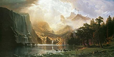 Posterazzi Collection Sierra Nevada in California Poster Print by Albert Bierstadt (20 x 10)