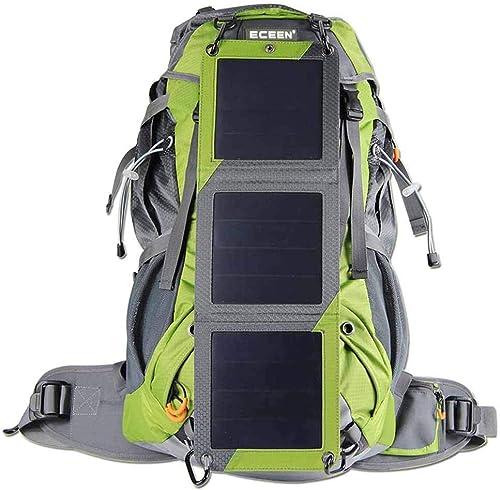 65L sac à dos de voyage étanche en plein air solaire charge voyage sac à dos hommes et femmes sac à dos de camping en plein air