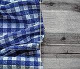 DAMU  ceranfeldabdeckung 2Piezas 2x 30x 52cm Cubiertas de Cocina eléctrico Horno Cocina de inducción Placa Protección contra Salpicaduras Cristal Cocina Tabla de Cortar Azul