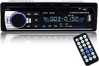 Bluetooth Autoradio,SUAVER Single Din Auto Audio Stereo FM Radio, Auto MP3 Player USB/SD/AUX/Freisprecheinrichtung mit Fernbedienung,Digitaler Medienempfänger (JSD 520)
