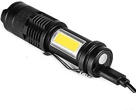 Zaklamp Oplaadbare LED Zaklamp Gebruik lamp Kralen 100 Meter Verlichting Afstand Gebruikt voor Avontuur, Camping PakketE