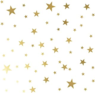Mozamy Creative Star Wall Decals (189 Count) Gold Star Decals Nursery Decals Removable Peel and Stick Wall Decals, Vintage Gold